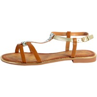 Chaussures Femme Sandales et Nu-pieds The Divine Factory Sandale FJ3975 Camel