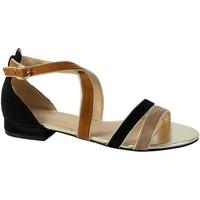 Chaussures Femme Sandales et Nu-pieds The Divine Factory Sandale QL3946 Noir