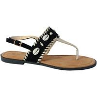 Chaussures Femme Sandales et Nu-pieds The Divine Factory Sandale TX3961 Noir