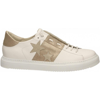 Chaussures Femme Baskets basses Essex VITELLO STELLE E FASCIA bianco-oro