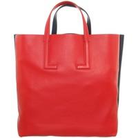 Sacs Femme Sacs porté main Lacoste Sac à main  cuir ref_48690 E69 Rouge/Marine Rouge