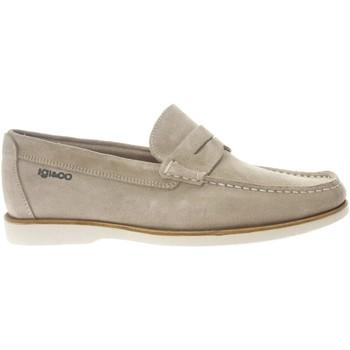 Chaussures Homme Chaussures bateau IgI&CO 87254 sneakers scarpe uomo in pelle blu con memory foam Beige