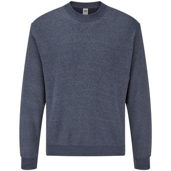 Vêtements Homme Sweats Fruit Of The Loom 62202 Bleu marine chiné