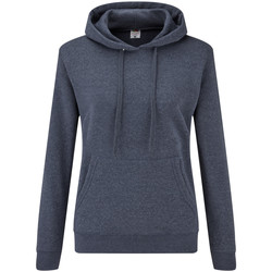 Vêtements Femme Sweats Fruit Of The Loom Hooded Bleu marine chiné