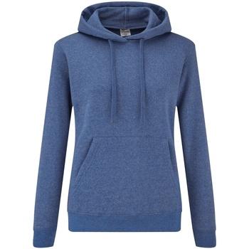 Vêtements Femme Sweats Fruit Of The Loom Hooded Bleu roi chiné