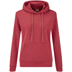 Vêtements Femme Sweats Fruit Of The Loom Hooded Rouge chiné