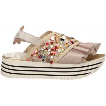 Chaussures Femme Sandales et Nu-pieds L4k3 SANDAL SUPER PAILETTES beige