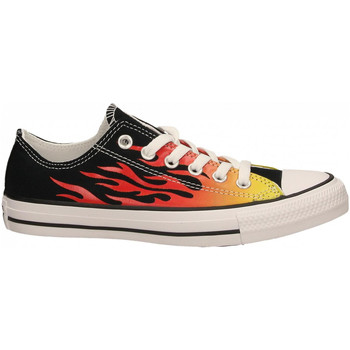 Chaussures Femme Baskets basses Converse CTAS CANVAS LIFT OX black-enamel-red