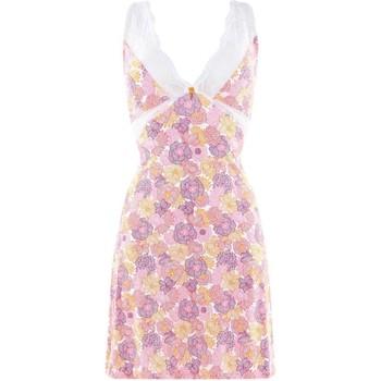 Vêtements Femme Pyjamas / Chemises de nuit Pommpoire Nuisette blanc/rose Eternité Rose