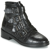 Chaussures Femme Boots Pepe jeans MALDON IMAN Noir