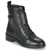 Chaussures Femme Boots Pepe jeans MALDON LOGO Noir