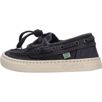 Chaussures Garçon Chaussures bateau Natural World - Sneaker blu 6473E-677 BLU