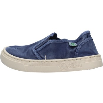 Chaussures Garçon Slip ons Natural World - Slip on  blu 6472E-628 BLU