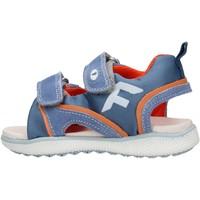 Chaussures Garçon Sandales et Nu-pieds Falcotto - Sandalo celeste/arancione ATALYN-1C52 CELESTE