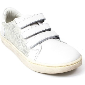 Chaussures Fille Baskets basses Kickers Baskets cuir gris