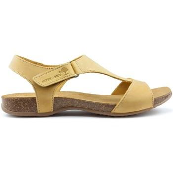 Chaussures Femme Sandales et Nu-pieds Interbios SANDALES ANATOMIQUES INTERMÉDIAIRES 4420 YELLOW