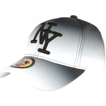 Accessoires textile Casquettes Hip Hop Honour Casquette NY Blanche et Noire Tendance Baseball Fashion Renbo Blanc