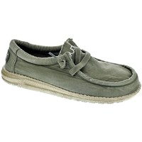 Chaussures Homme Mocassins Dude Wally Washed Verde