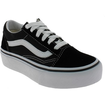 Chaussures Fille Baskets basses Vans OLD SKOOL PLATFORM NERE Noir