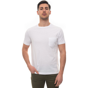 Vêtements Homme T-shirts manches courtes Fay NPMB3401330-PKUB001 bianco