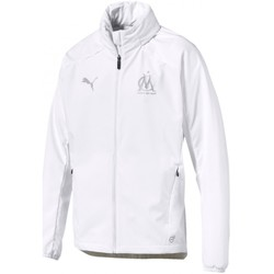 Vêtements Homme Blousons Puma Olympique de Marseille Hooded Rain Top Blanc