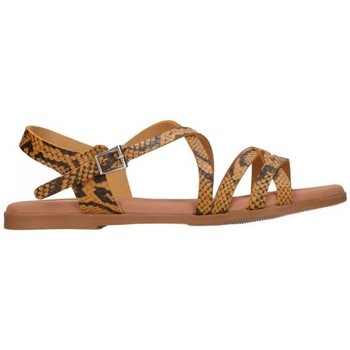 Chaussures Femme Sandales et Nu-pieds Oh My Sandals 4640 TODO REPTILE MOSTAZA Mujer Amarillo jaune