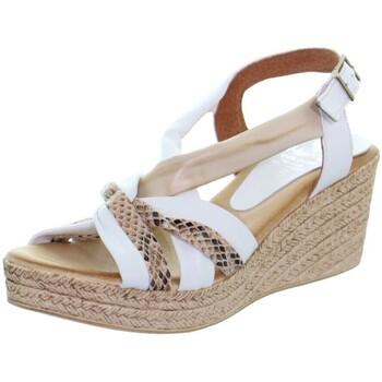 Chaussures Femme Escarpins Marila Compensées  ref_48944 multi blanc