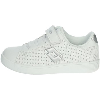 Chaussures Fille Baskets basses Lotto 213689 Blanc/Argent