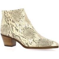 Chaussures Femme Bottines Reqin's Boots cuir serpent Beige