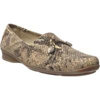 Chaussures Femme Mocassins Marco MALORIE CUIR Beige
