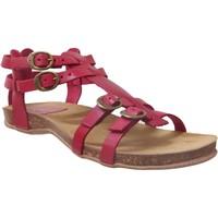 Chaussures Femme Sandales et Nu-pieds Kickers ANA Rouge cuir