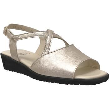 Chaussures Femme Sandales et Nu-pieds Marco Louna Platine cuir