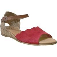 Chaussures Femme Sandales et Nu-pieds Pinaz 324 Rouge/marron