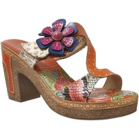 Chaussures Femme Mules Laura Vita Hecalo 07 Orange multi