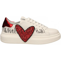 Chaussures Femme Baskets basses Gio+ + VITELLO CUORE bianco-rosso