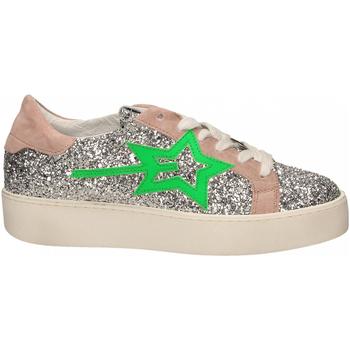 Chaussures Femme Baskets basses Gio + + LEILA GLITTER argento-verde