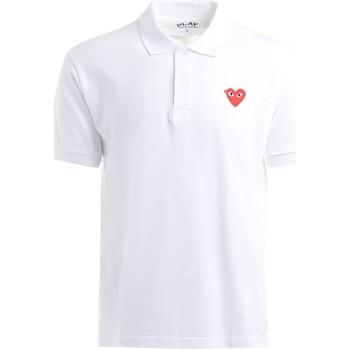 Vêtements Homme T-shirts & Polos Comme Des Garcons Polo Comme Des Garcons PLAY blanc avec un cœur rouge Blanc