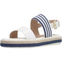 Chaussures Femme Sandales et Nu-pieds Geox D SANDAL LEELU' E Blanc