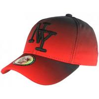 Accessoires textile Casquettes Hip Hop Honour Casquette NY Rouge et Noire Tendance Baseball Fashion Renbo Rouge