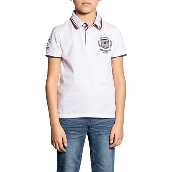 Vêtements Garçon Polos manches courtes Deeluxe Polo GOROU White
