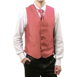 Vêtements Homme Gilets de costume Kebello Gilet cérémonie Taille : H Rose S Rose