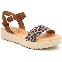 Chaussures Femme Sandales et Nu-pieds Kaola 3483 Leopard Marron