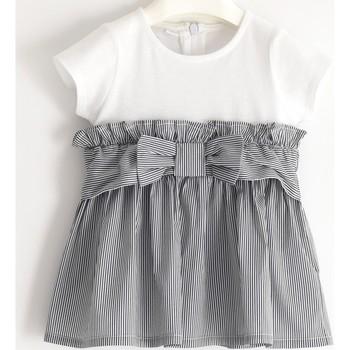 Vêtements Fille Robes courtes I Do Robe bébé bi-matière Blanc