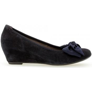 Chaussures Femme Escarpins Gabor Escarpins daim talon  compensé recouvert Bleu