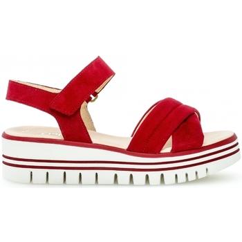 Chaussures Femme Sandales et Nu-pieds Gabor Sandale daim talon  plat Rouge