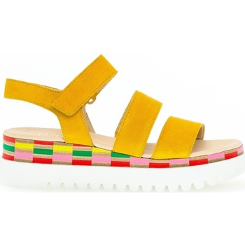 Chaussures Femme Sandales et Nu-pieds Gabor Sandale daim talon  compensé Jaune
