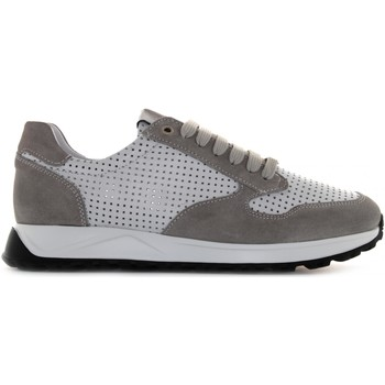 Chaussures Homme Baskets basses Exton 751 Bianco / grigio