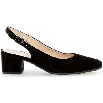 Chaussures Femme Escarpins Gabor Escarpins daim talon  block recouvert Noir