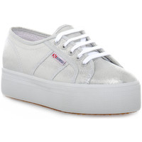 Chaussures Femme Baskets basses Superga W01 LAME WEDGE GREY Rosa
