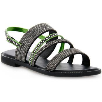 Chaussures Femme Sandales et Nu-pieds Café Noir CAFE ' NOIR 2585 FRATE CON STRASS Grigio